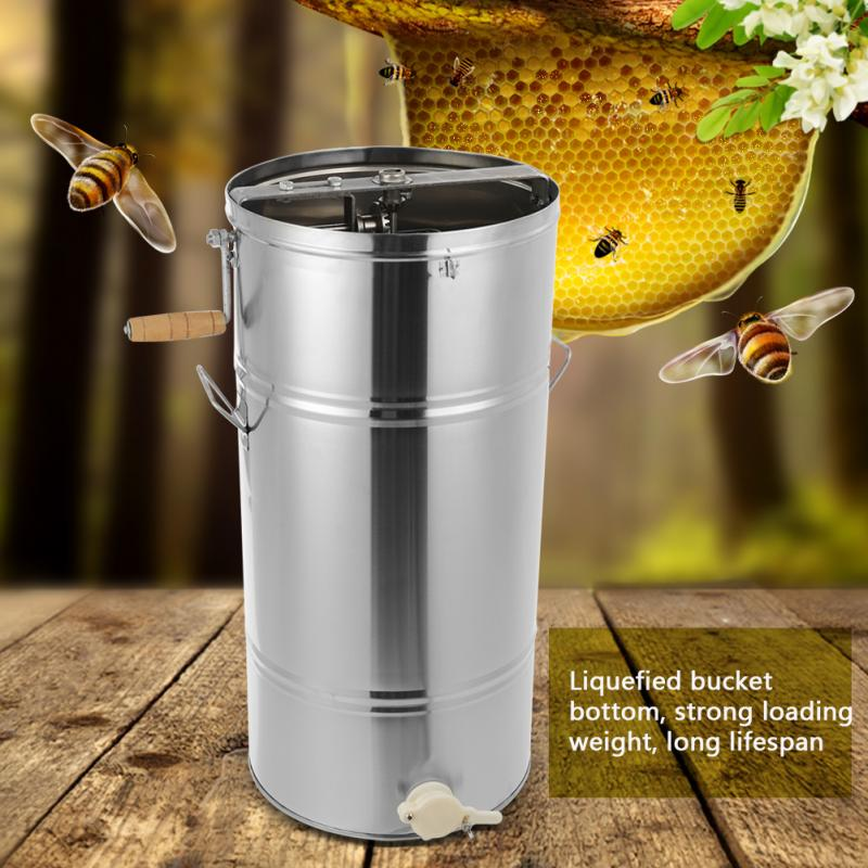 Bee-Honey-Extractor Bee-Tools Apicultura Beekeeper 2-Frames Stainless-Steel Manual  title=