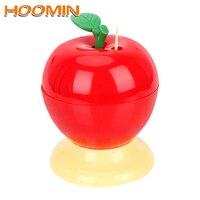 HOOMIN Toothpick Box Automatic Press Type Home Decoration Fruit Apple Shape Toothpick Holder Plastic Toothpick Holders     -