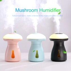 Grzyb lampa nawilżacz wielofunkcyjny biuro w domu powietrza Mini Usb nawilżacz z Led światło nocne