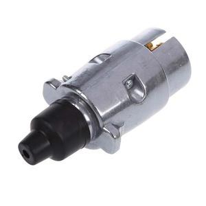 Image 3 - 7 Pin römork tak ağır hizmet tipi yuvarlak Pin 7 kutuplu kablo konnektörü 12V çekme çekme karavan kamyon fiş N tipi elektrik soketi