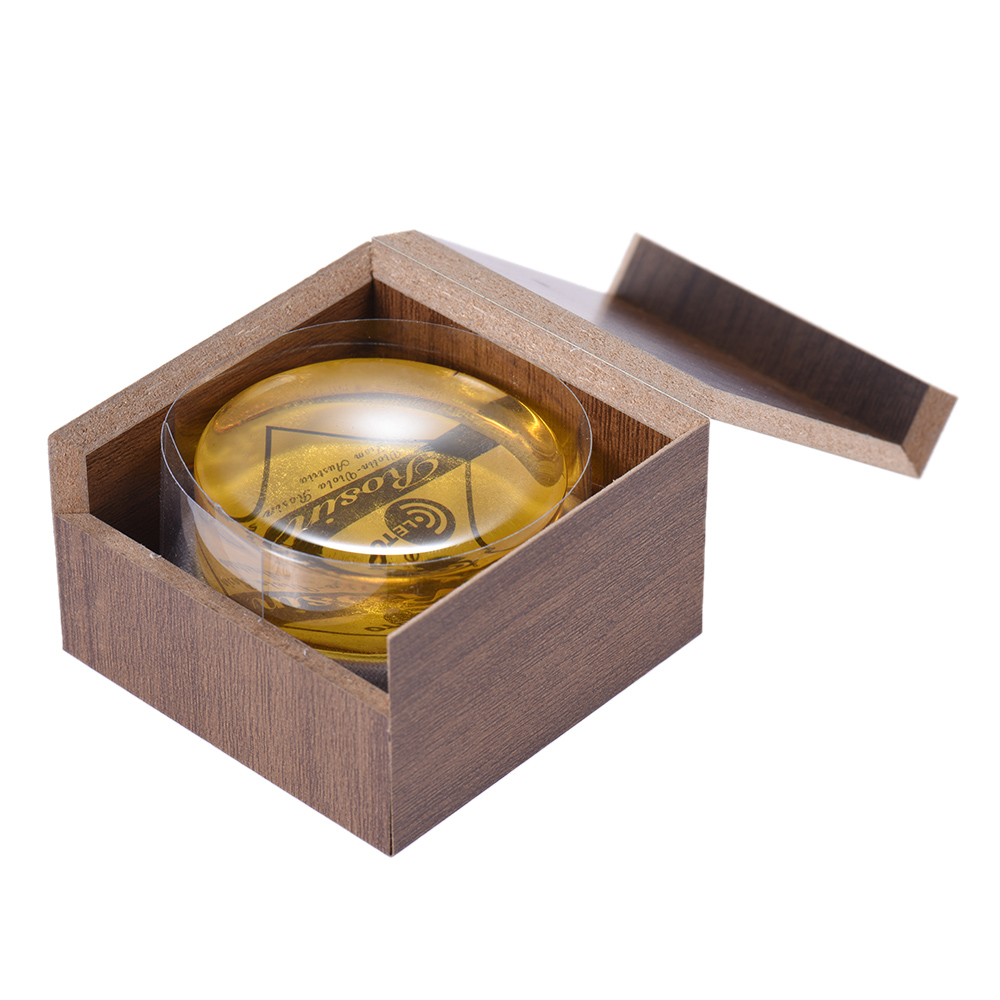 High-Class Transparent Yellow Rosin Colophony Wooden Box Universal For Violin Viola Cello Erhu Bowed