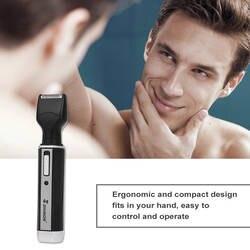 SHINON 4 в 1 машинка для стрижки волос в носу борода, брови Перезаряжаемые электрический триммер для носа электробритва эпилятор