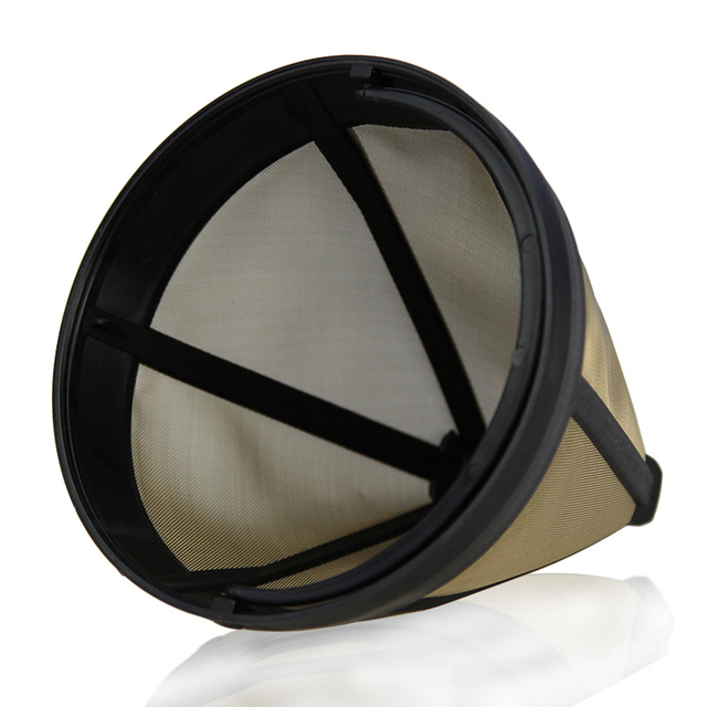 Stainless Steel Easy Clean Reusable Cone-Style Coffee Filter 2