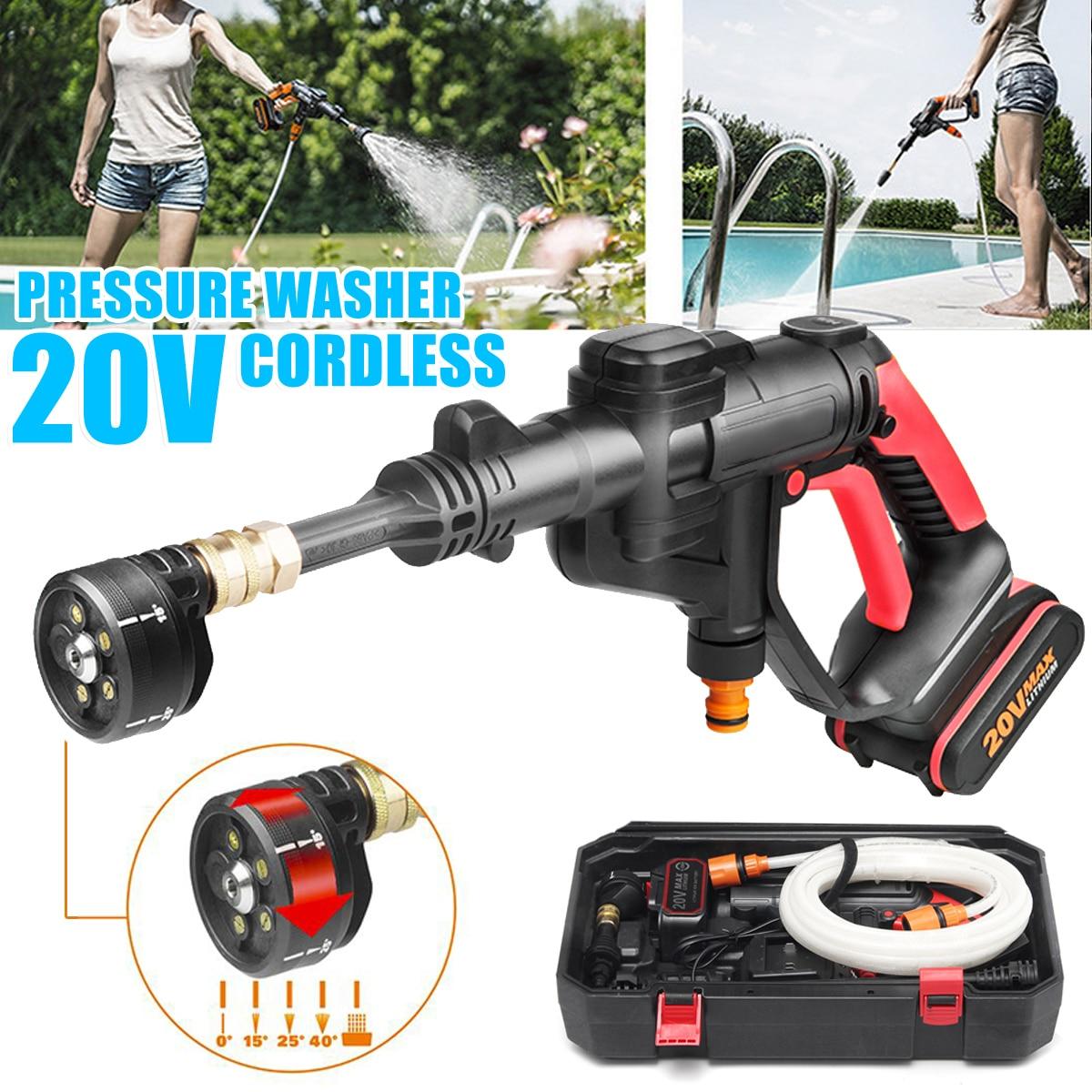 Nouveau Sans Fil Portable Eau Cleaner Li-ion 320psi 20 V Nettoyeur Haute Pression Tuyau Buse Spray Nettoyant-Pistolet pour le Nettoyage De Voiture