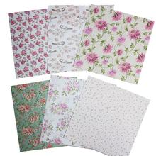 24pcs/set 6 Inch Single-Sided Scrapbook Paper Hand Account Card DIY Album Making Background Pattern Craft