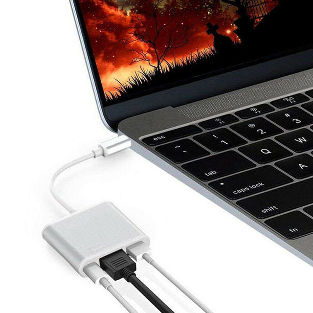 USB C HUB To HDMI Adapter USB Type C Hub To HDMI 4K USB 3.0 Port USB-C Power Delivery for Macbook Pro/Air Thunderbolt 3