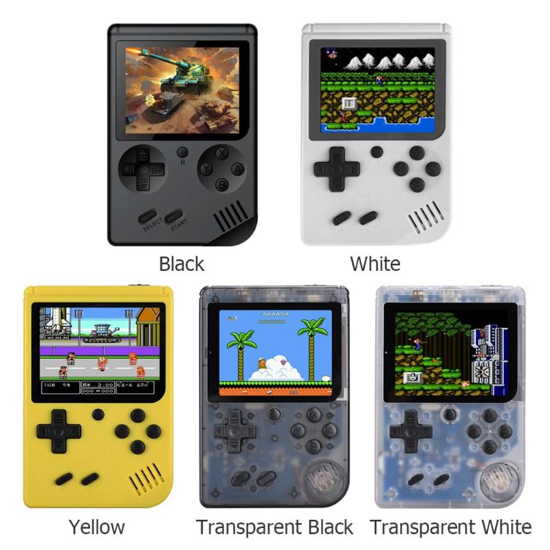 Q3-A Retro Portable Mini Handheld Game Console 8-Bit 3.0 Inch Color LCD Screen Kids Game Player Built-in 168 Games