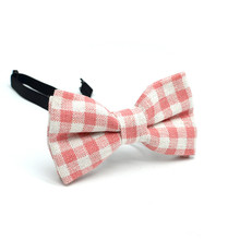 Wild little gentleman plaid bow tie Male and female children's bow tie Tide baby bow tie dress bow tie back grid pinafore dress