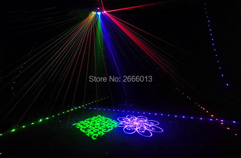 6 Lens RGB Multi Color Scan Laser With Patterns/Beam Pattern Scanner/DJ Disco Party Stage Decor Laser Light/Stage Lighting Laser