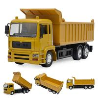 Alloy Remote Control Engineering Car Model With Rechargeable Battery Electric Car Toy Simulation Dump Truck For Children