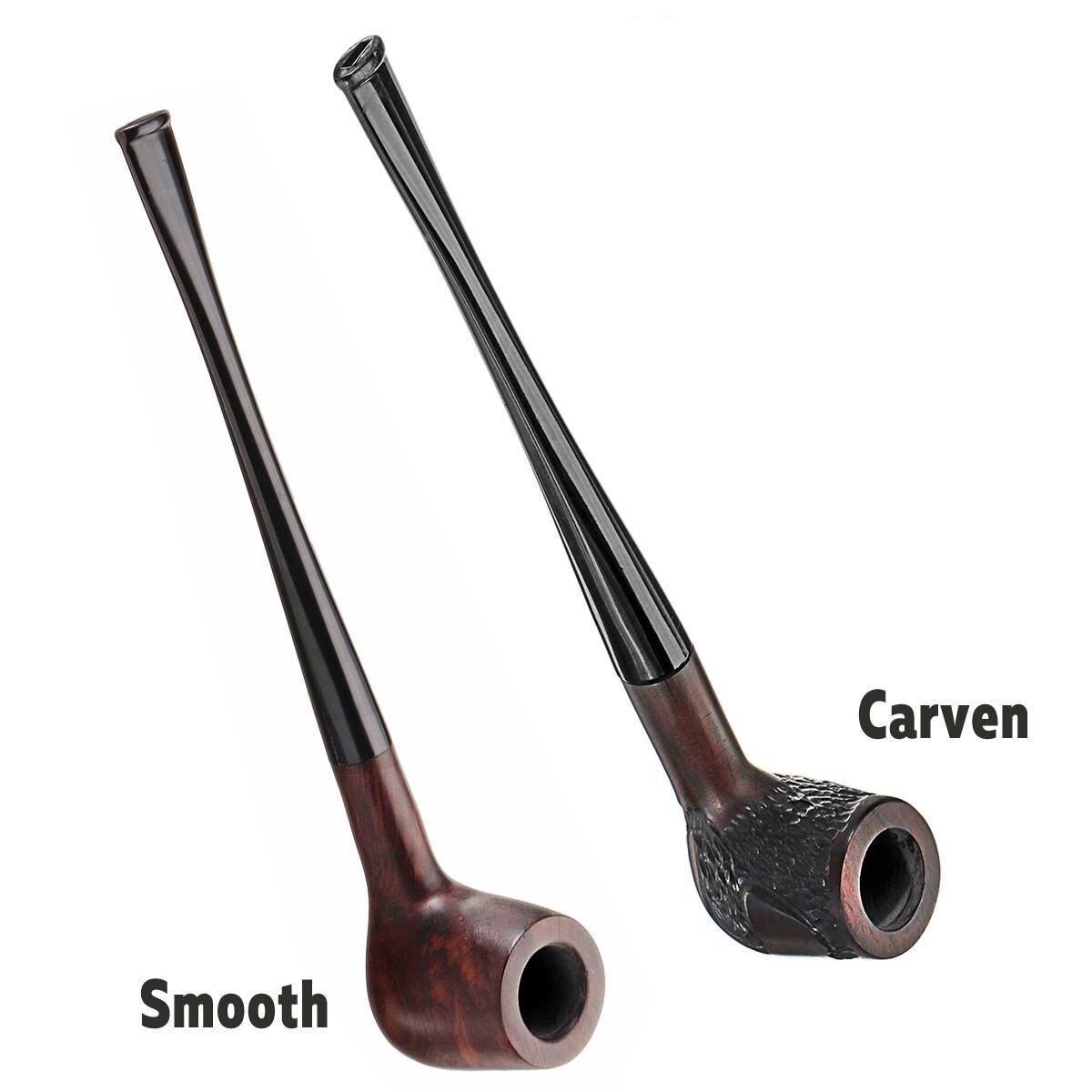 Nowy heban drewna rury 17 cm/18 cm czarny palenie rury ręcznie tytoniu filtr drewniane rury z przenoszenia torba w Fajki wodne i akcesoria od Dom i ogród na