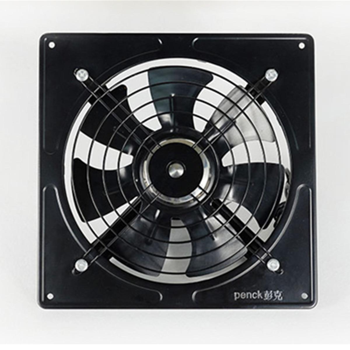 Kitchen Ventilator Axial Industrial Wall Fan 220V 10 inch Metal Exhaust Fan High Speed Air Extractor Window Ventilation Fan