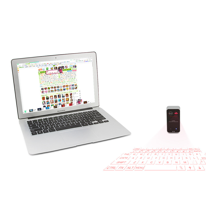 Wireless Laser Projection Bluetooth Virtual Keyboard for Iphone Ipad Smartphone and Tablets Full size Keyboard with Mouse in Keyboards from Computer Office