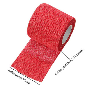 Image 5 - RORASA 5 Colors Disposable Self Adhesive Elastic Bandage For Handle With Tube Tightening Of Tattoo Accessories Knee Muscle Tape