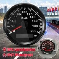Autoleader Universal 85mm GPS Speedometer Stainless 200km/h Bike Car Truck Motor Auto With Backlight Waterproof Digital Gauges