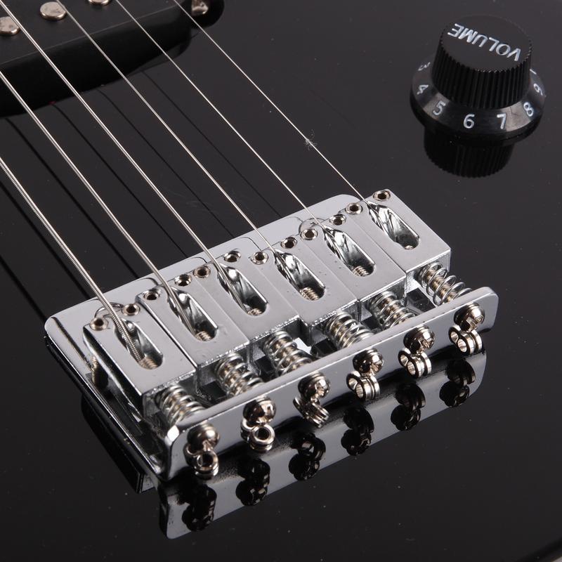 30 pouces Mini guitare électrique Instruments de musique bouton ukulélé basse Guitarra avec touche en érable bandoulière Plectrum - 6