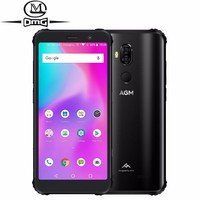 AGM X3 IP68 Waterproof shockproof mobile Phone 5.99 FHD 6GB+64GB Qualcomm SDM845 Octa core 24MP Wireless Charging 4G Smartphone