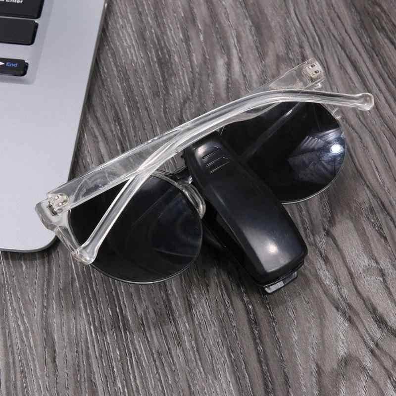 Fixador automático carro óculos de sol viseira óculos de sol bilhete recibo cartão clipe de armazenamento titular do carro-estilo automóvel acessórios novo