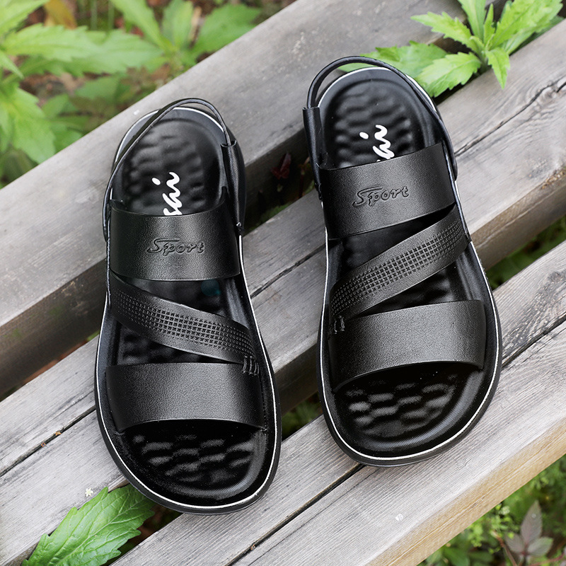 Men/'s Leather Sandals Slippers Beach Shoes Summer Breathable Flats Open Toe New