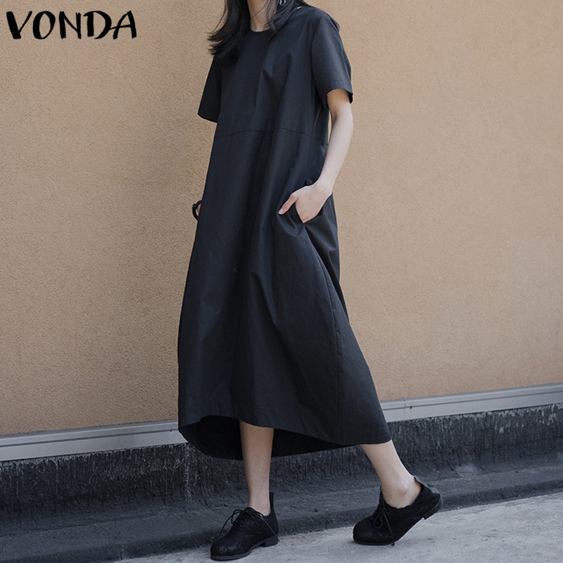 VONDA Women Maxi Dress 2019 Summer Maternity Clothing Asymmetrical Pregnant Long Shirt Dresses Casual Loose Vestidos Robe MujerVONDA Women Maxi Dress 2019 Summer Maternity Clothing Asymmetrical Pregnant Long Shirt Dresses Casual Loose Vestidos Robe Mujer