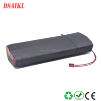 EU US No Tax Electric Bicycle 36V 10Ah Rear Rack Battery for Bafang BBS01 eBike Battery with charger