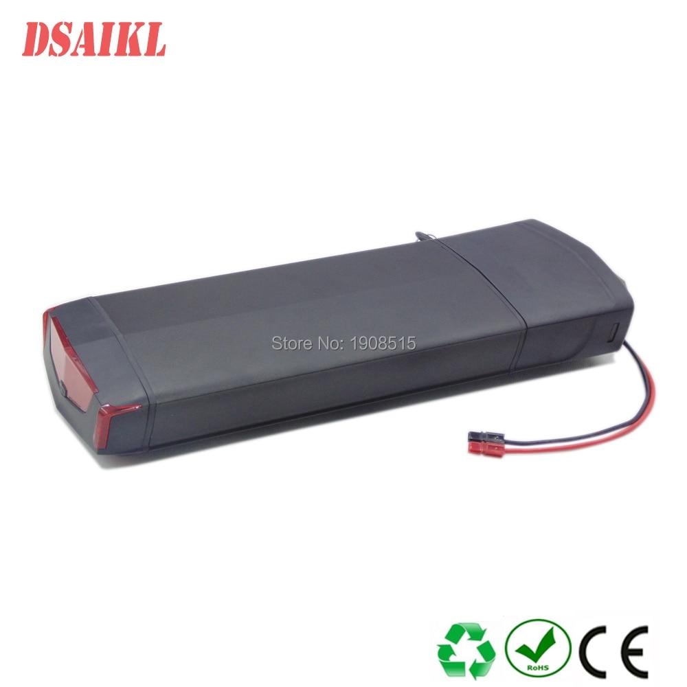 EU US pas de taxe vélo électrique 36V 10Ah batterie de Rack arrière pour Bafang BBS01 eBike batterie avec chargeur