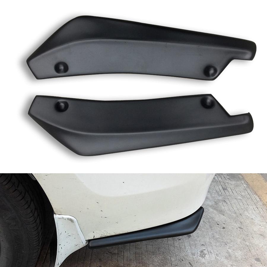Spoiler Canard Wing Body Spoiler Anti-Crash Diffuser Lip Wrap Angle Splitter Protector Black 1 Pair Universal Rear Trunk Bumper Lip Car Rear Bumper Protector
