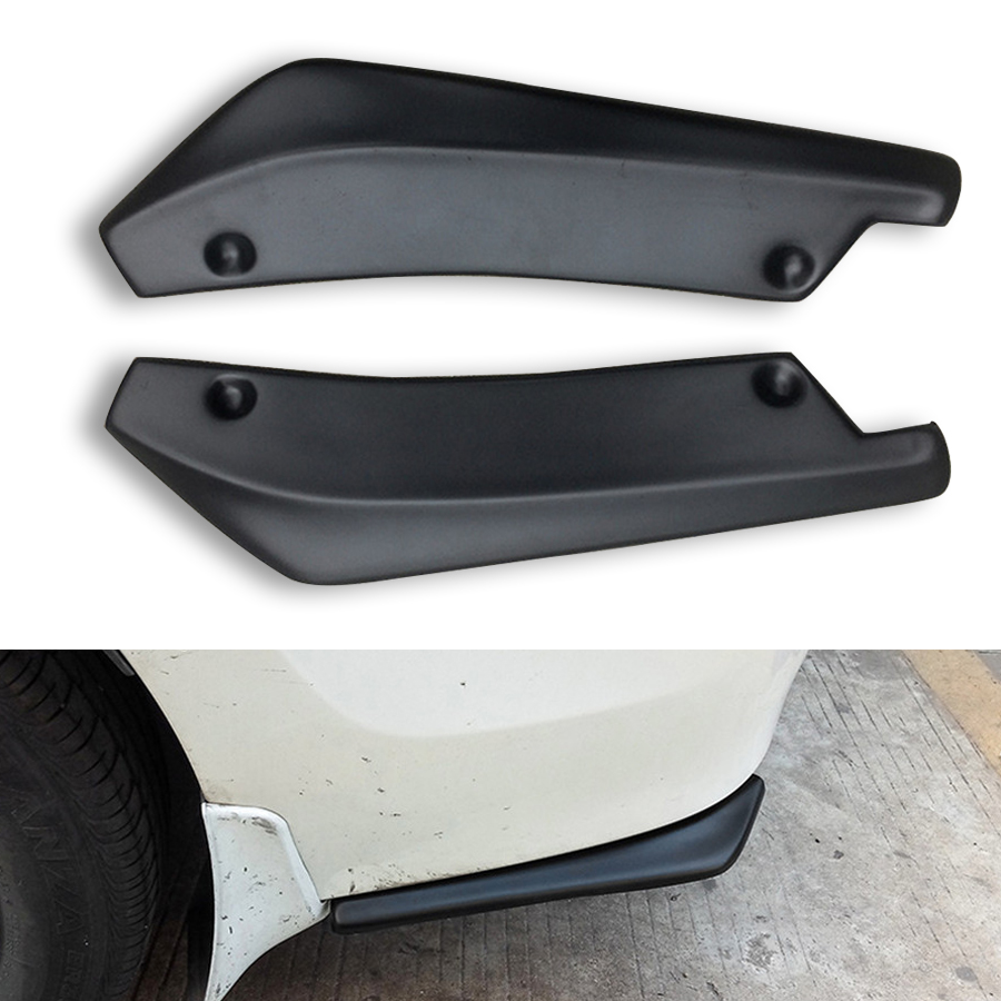 Car Bumper Spoiler Rear Lip Canard Diffuser Wrap Angle Shovel Decor Anti-scratch