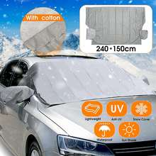 51f20ed6 Car Winter Windscreen Cover Magnetic PEVA Cotton Anti Snow Frost Ice Cotton  Window Mirror Protector 240