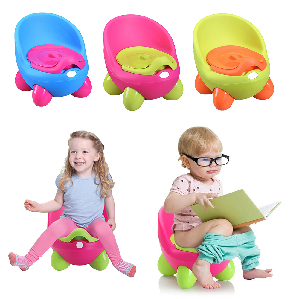 Baby Potty Toilet Seat Egg Shape Portable Training Pan Children's Pot Kids Bedpan Comfortable Backrest Toilet Cute Cartoon Pots