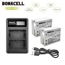 Bonacell 1400 mAh NB-10L NB10L NB 10L батареи + ЖК-дисплей двойной Зарядное устройство для Canon G1X G15 G16 sx40hs sx50hs sx60hs SX40 SX50 Bateria L10