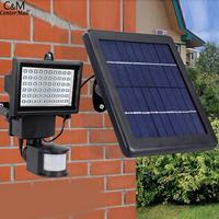 Garden LED Light Camping Lighting 6W Solar 3 Lamp IP65 Waterproof Powered 7V Outdoor Black Sensor Wall Outdoor Courtyard