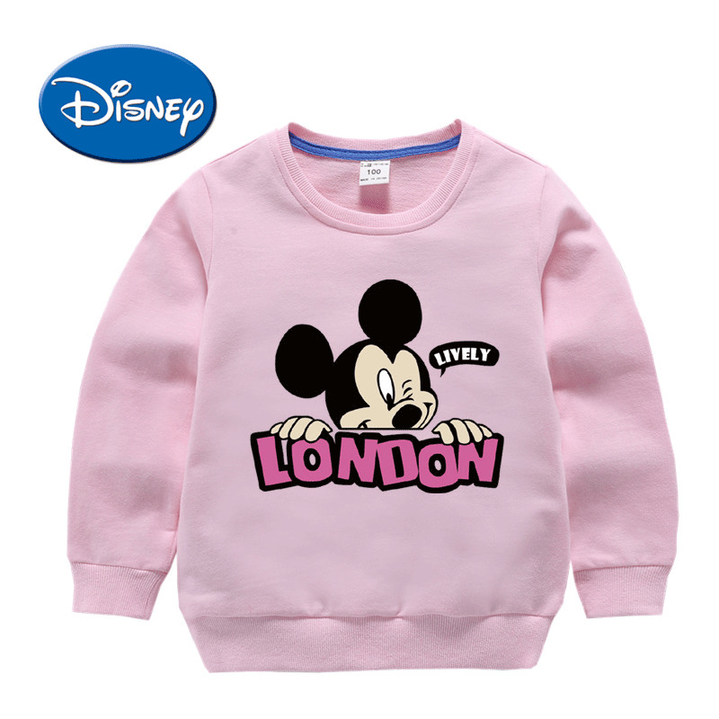 b66bdea32ee3 DISNEY Mickey Children Clothes Long Sleeve Sweater For Baby Girls ...