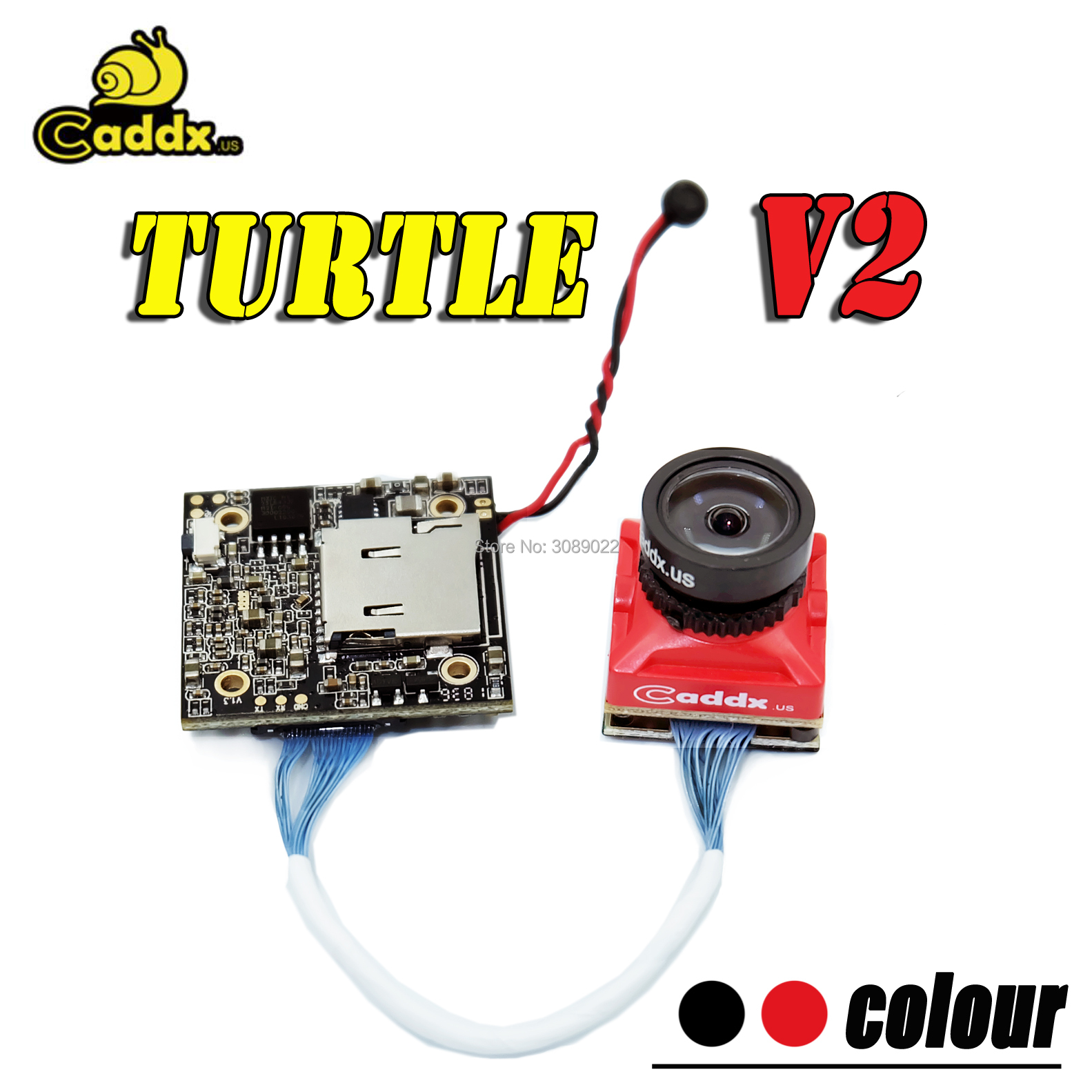 Caddx Turtlet V2 1080P 60fps 2.7 Inch 800TVL HD FPV Camera FOV 155 Degree NTSC / PAL changeable FPV Action Camera For RC drone-in Parts & Accessories from Toys & Hobbies    1