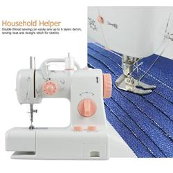 Mini Electric Handheld Sewing Machine Dual Speed Adjustment with Light Foot AC110V-240V Double Threads Pendal Sewing Machine