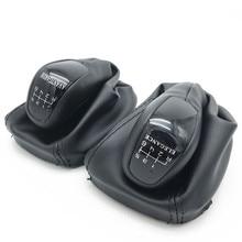 5 سرعة 6 والعتاد سيارة التحول مقبض تروس مع أحذية عالية الساق من الجلد الغطاء الحال بالنسبة لمرسيدس بنز C الفئة W203 S203 الكلاسيكية Avantgarde الأناقة
