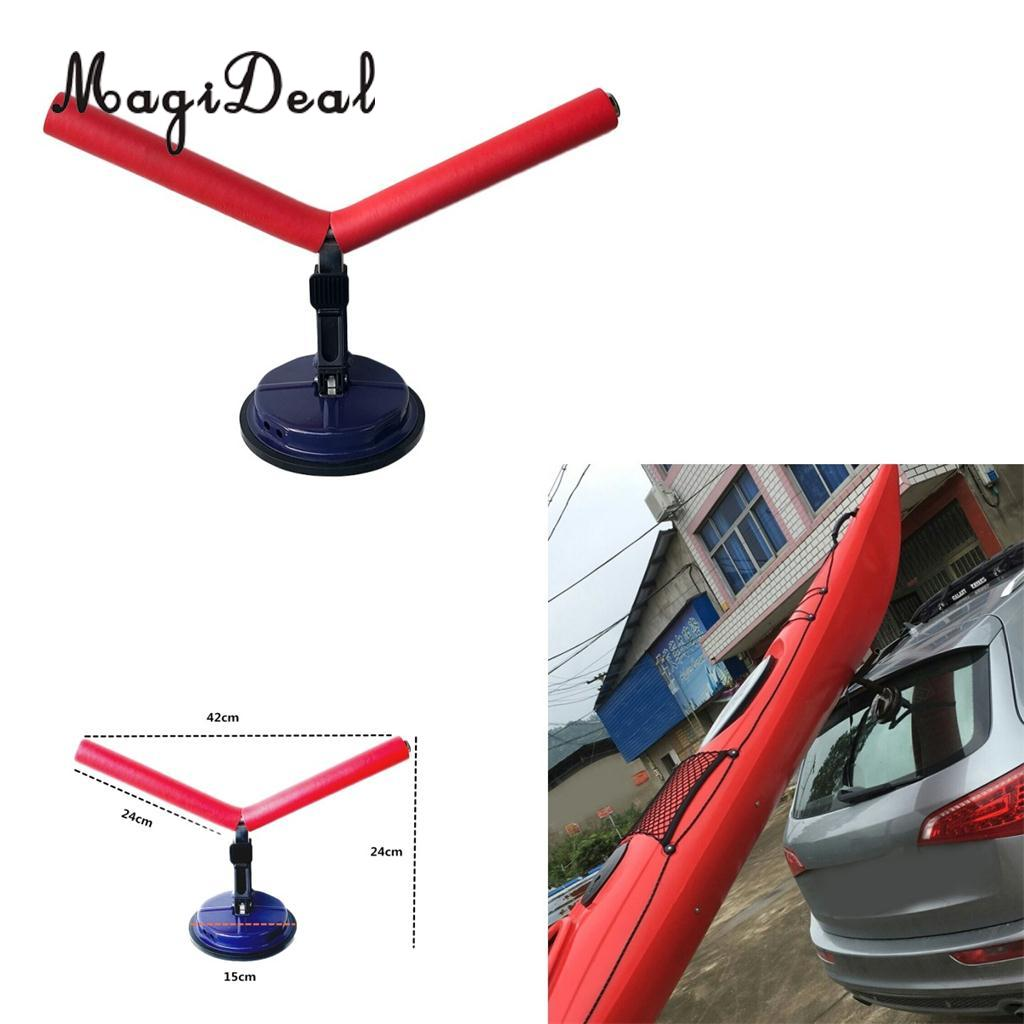 MagiDeal Universal Heavy Duty Kayak Roof Rack Canoe Boat Surfboard Car Top Mount Carrier Ski Paddleboard