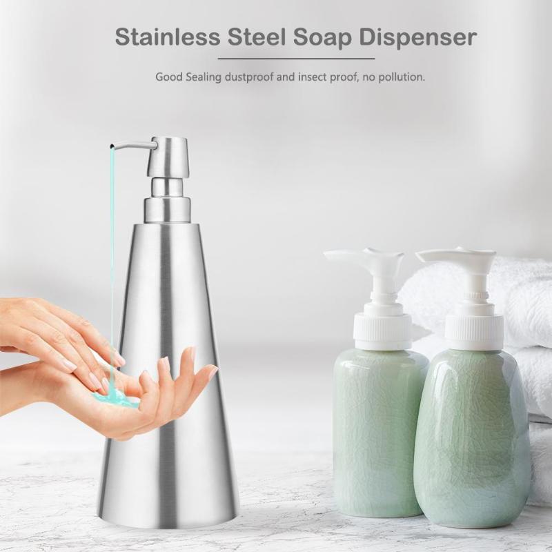 500/800ml Stainless Steel Soap Dispenser Bottle Kitchen Bathroom Hand Washing Detergent Shampoo Box Container|Liquid Soap Dispensers|   - AliExpress