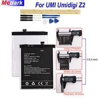 Mcdark 3850mAh For UMI Umidigi Z2 Back up Battery For UMI Umidigi Z2 Batterie Bateria Accumulator AKKU ACCU PIL Phone with Tools