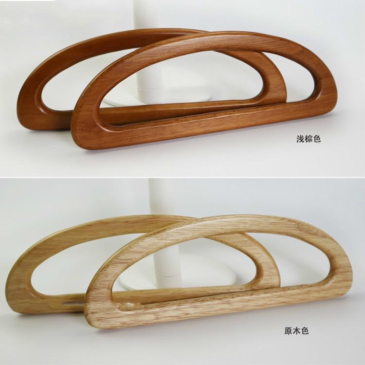 24cm Solid Wood D Shape Bags Handle Wooden Purse Frame Hanger DIY Wooden Handbag Handles Bag Accessories Hardware Replacement
