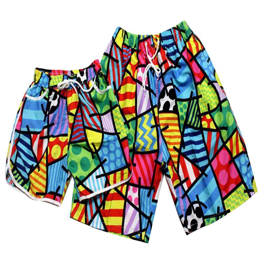 MISSKY 2pcs/set Lovers Shorts Beach Swimwear 2019 Men Women Board Short Women Bikini Sets Quick-drying Swim Shorts Swimsuit