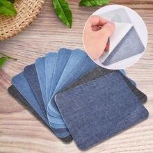 Naszywki 10 sztuk termiczne lepkie żelazko na naprawianie łatki dżinsy torba kapelusz naprawa wystrój wnętrz żelazko na plastry