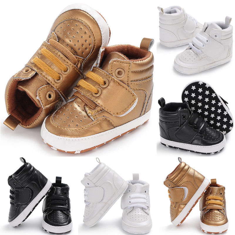 Newborn Baby Boys Girls Boots Fashion Pu Soft Sole Crib Infant Kids Shoes Toddler Warm Boots Anti-slip Sneaker 0-18M UK