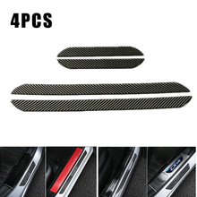 4pcs Real Carbon Fiber Front Rear Car Scuff Plate Door Sill Cover Panel Step Protector 48CM+25CM