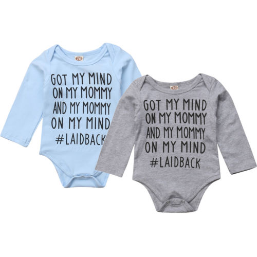9eecf5cf6d9 Brand New Newborn Toddler Baby Boys Girls Letter Long Sleeve Romper  Playsuit Jumpsuit Tracksuit Outfit Clothes 0-18M