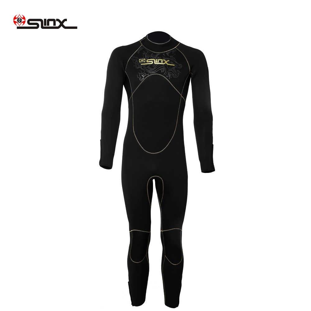 SLINX Мужской 5 мм гидрокостюм для дайвинга для серфинга дайвинга костюм во весь рост плавание трубка с длинными рукавами супер теплые купальники Спортивные в стиле серфинга непромокающий костюм