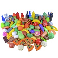120PCS Children Kitchen Pretend Play Toys Cutting Fruit Vegetable Food Miniature Play Do House Education Toy Gift