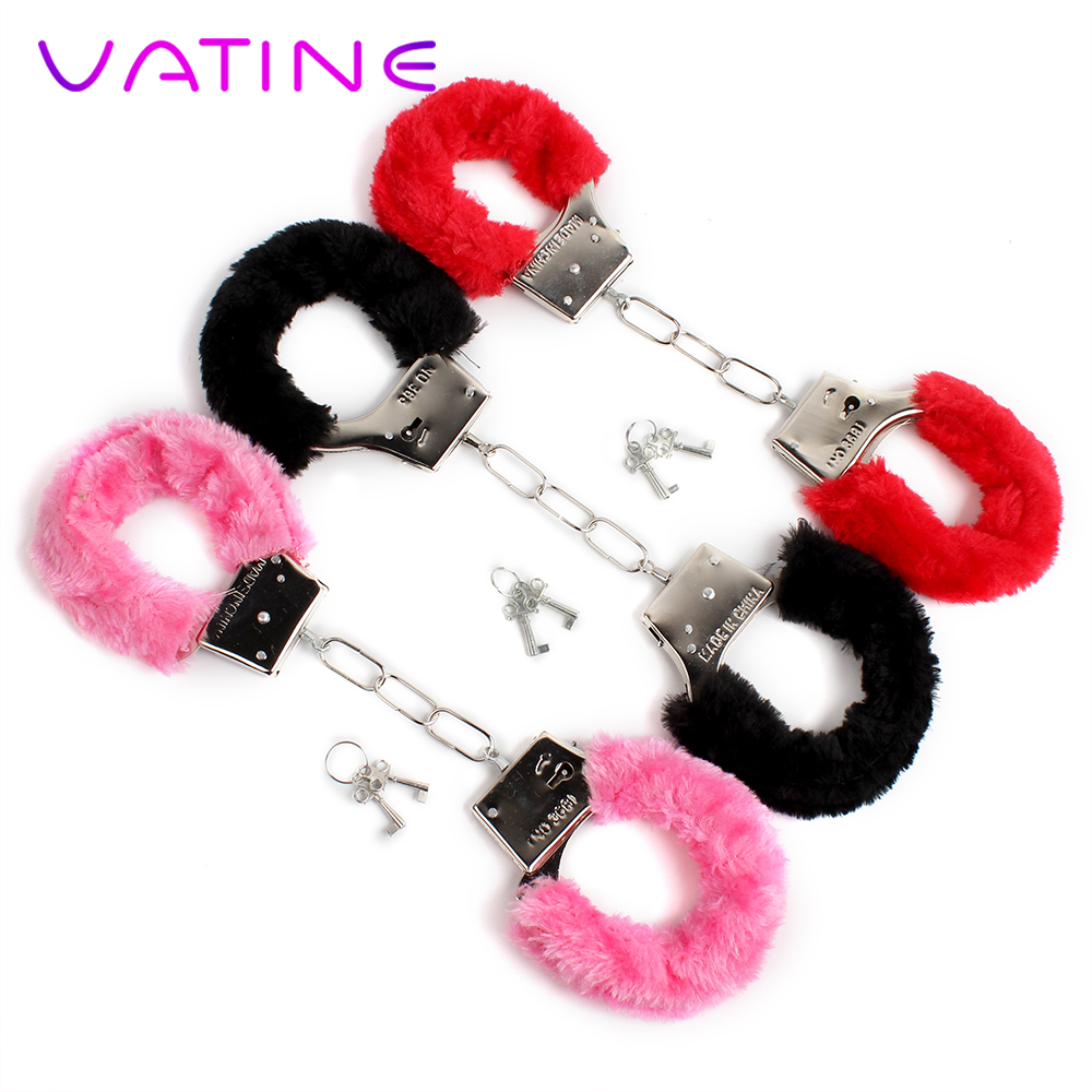 VATINE 1 Piece Furry Soft Metal Handcuffs Chastity Night Party SM Bondage Sex Toys for Couple Handcuffs Role-playing Adult GamesVATINE 1 Piece Furry Soft Metal Handcuffs Chastity Night Party SM Bondage Sex Toys for Couple Handcuffs Role-playing Adult Games