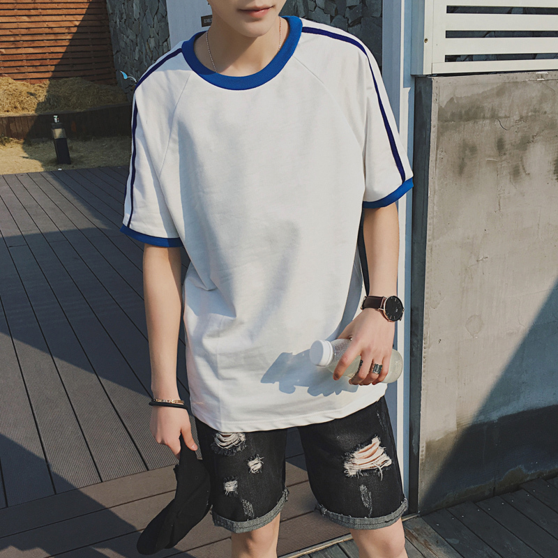 Summer New T Shirt Men Fashion Solid Color Casual Short sleeved T shirt Man Streetwear Hip hop Tshirt student O neck Tops Sale in T Shirts from Men 39 s Clothing