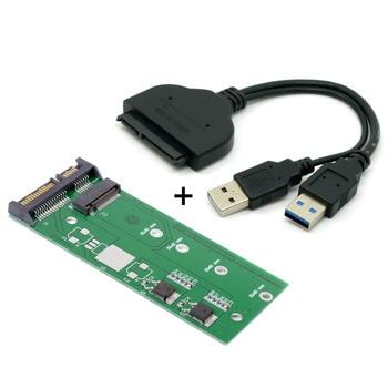 CYDZ USB 3.0 to SATA 2.5 B Key M.2 NGFF SSD to SATA 2.5 7+15 22 Pin Converter Adapter Card for 2242 2260 2280 M.2 jimier 2 in 1 sata 3 0 to combo m 2 ngff b key